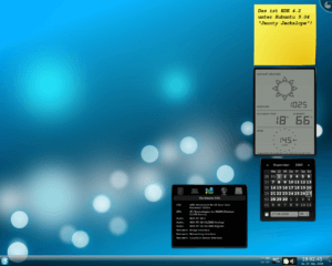 Example of KDE widgets on Desktop