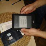 Kobo Glo unboxing - ebook reader running