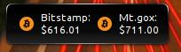 Bitcoin Rate Plasmoid
