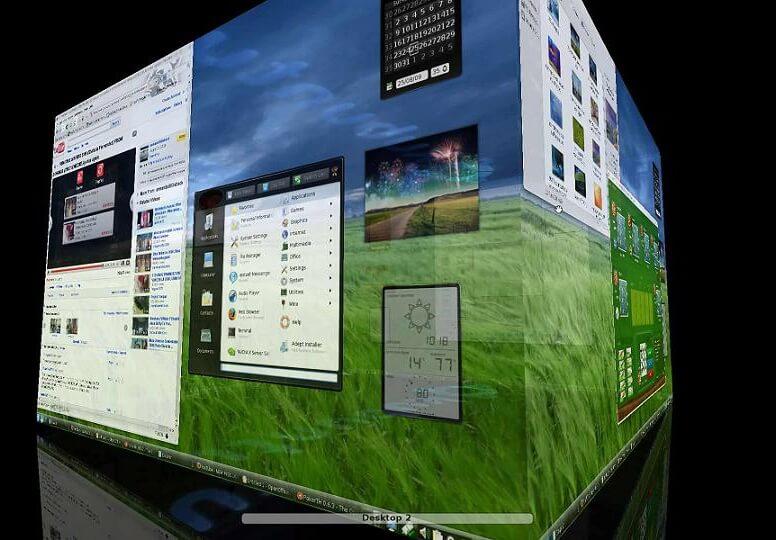 Ubuntu desktop 3D cube