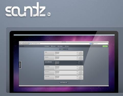Soundz.fm - logo and screen