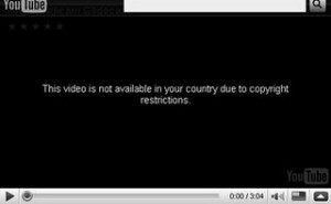 YouTube - not available in your region